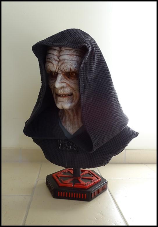 Star Wars : Palpatine lifesize bust Palpat11