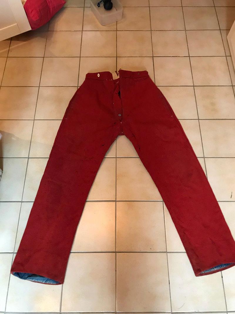 Pantalon rouge en garance militaire  15282713