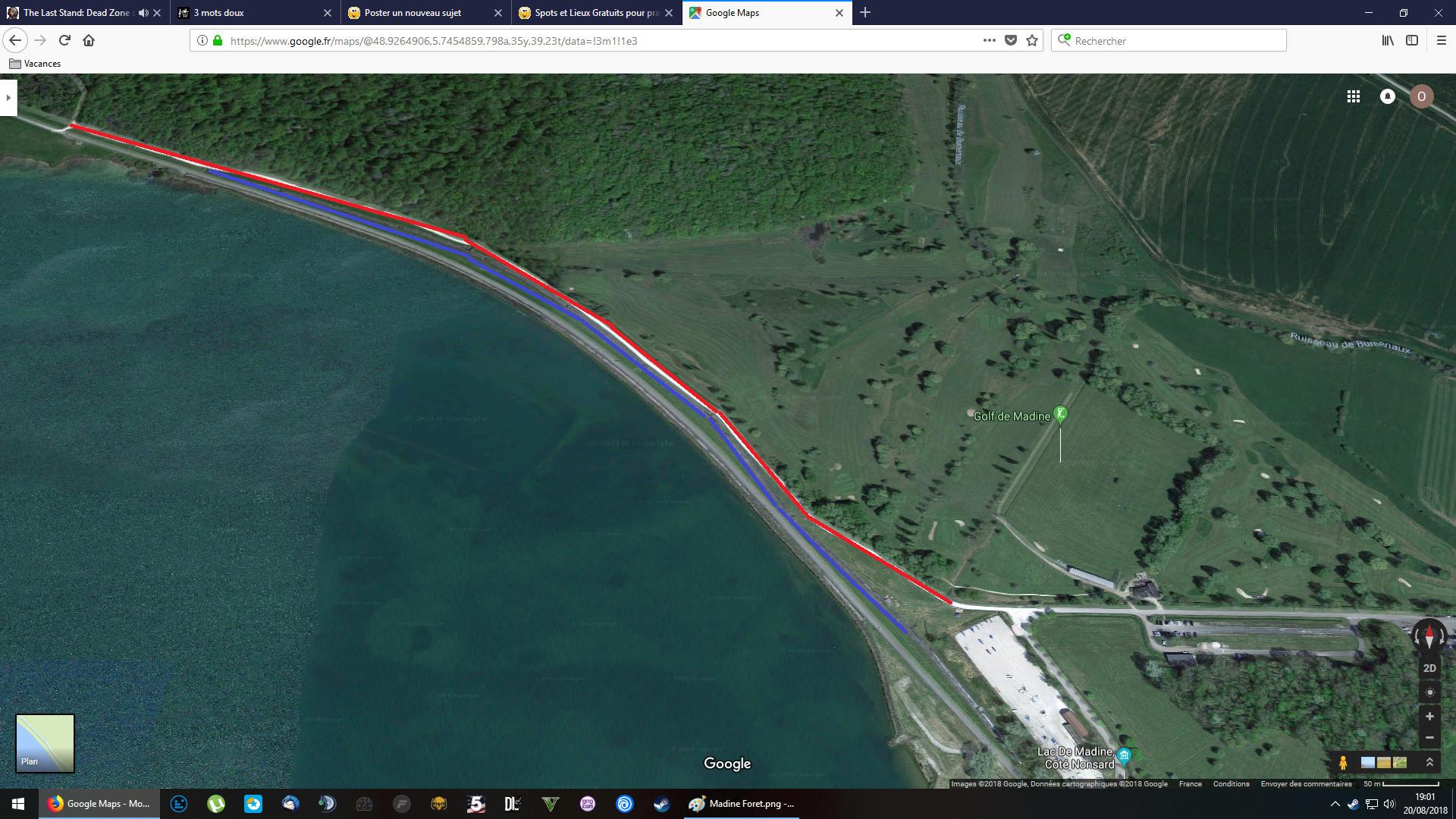 Spot potentiel à tester en Lorraine : La digue du lac de Madine Madine10