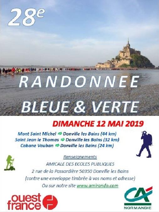 Randonnée Bleue & Verte - Dim 12/05/19 - Donville (50)-44 Km Affich12