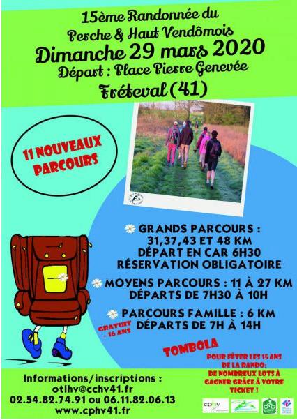 15ème rando du Perche & Haut Vendômois - 29/03/20 - ANNULÉ Affich14