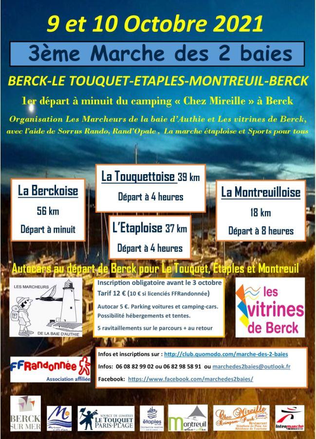 3ème Marche des 2 baies - Berck (62)- 56 Km - Sam 9 Oct 2021 Captur14