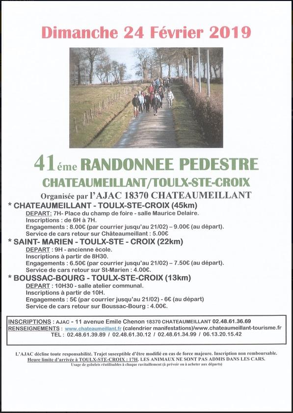 Chateaumeillant - Toulx Sainte Croix(18) -Dim 24/02/19- 45Km Image14