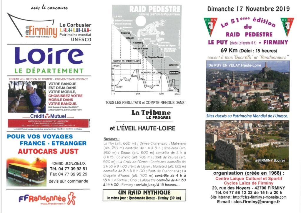 51ème Raid Le Puy - Firminy - 69 Km - Dim 17/11/2019 Lepuy10