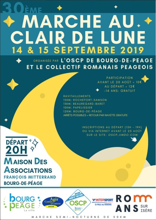 30ème Marche CDL 50 Km- Bourg de Péage (26) - Sam 14/09/2019 Lune10