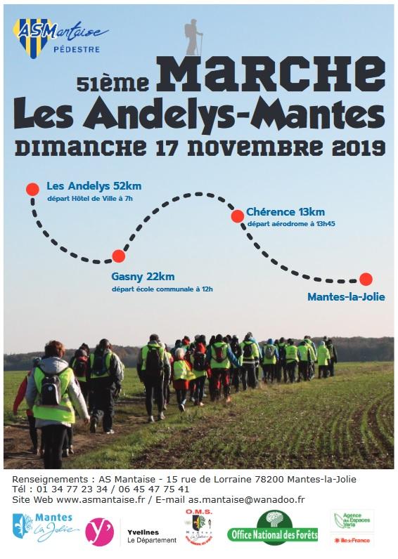 51ème Marche Les Andelys - Mantes (78) - 52 Km - 17/11/2019 Mantes10