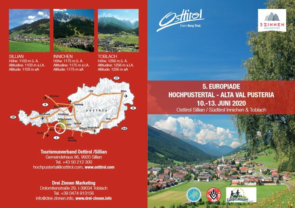 IVV-EUROPIADE - Val Pusteria (ITA/AUT) - Juin 2020 - ANNULÉ Marche14