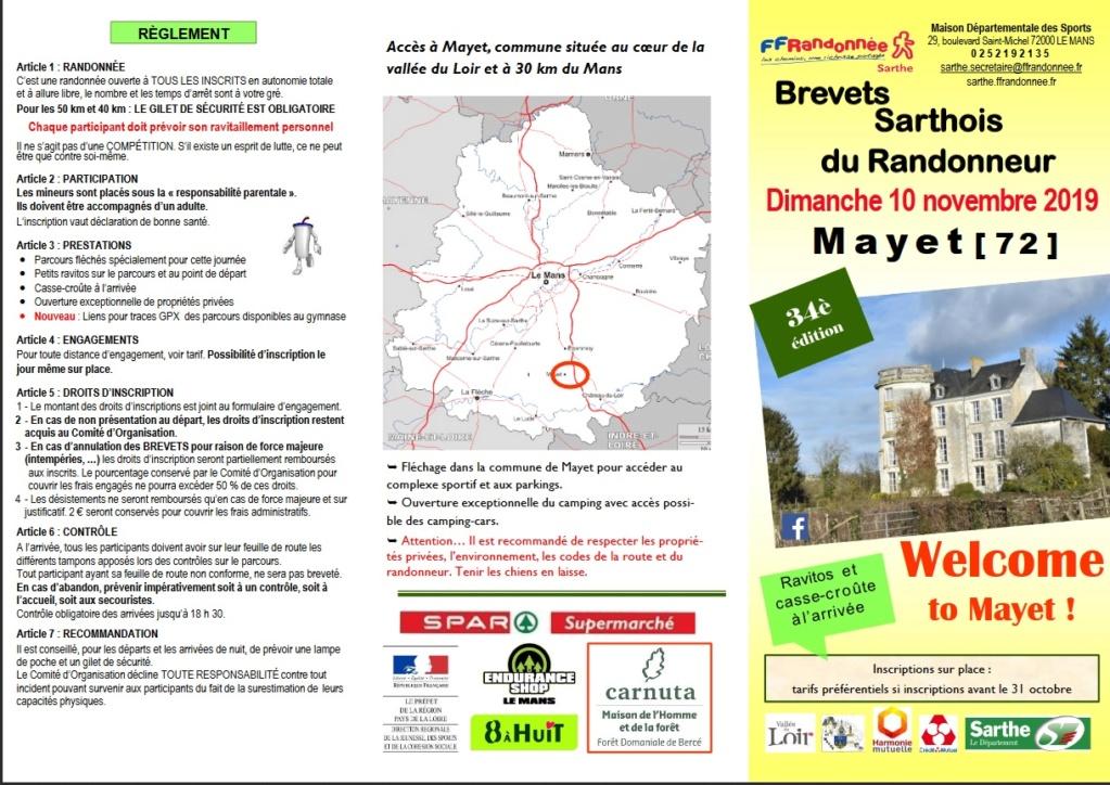 34è Brevets Sarthois du Randonneur -Mayet (72)- 10 Nov 2019 Mayet10