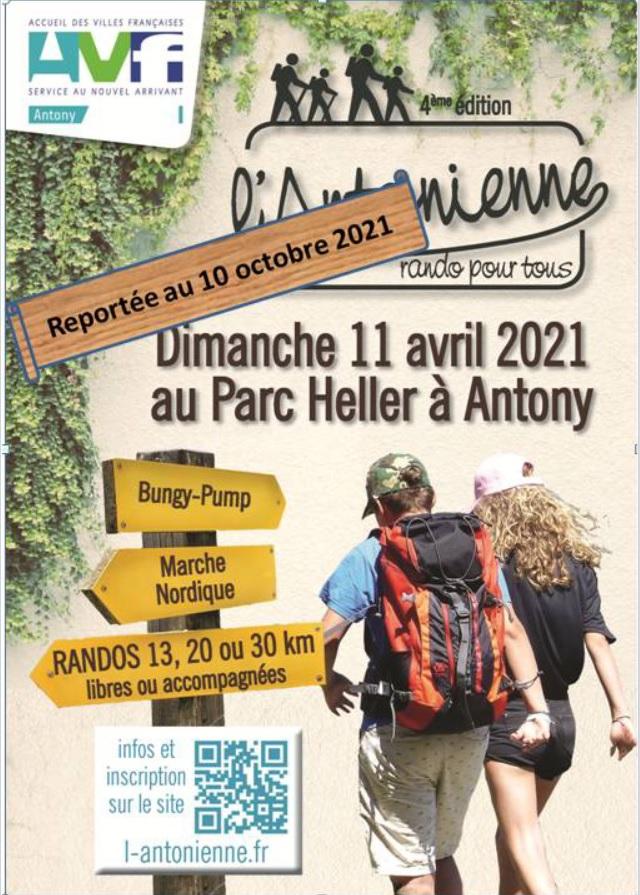 L'Antonienne (92) - Dim 10 Oct 2021 - 30 Km -Marche Nordique New10