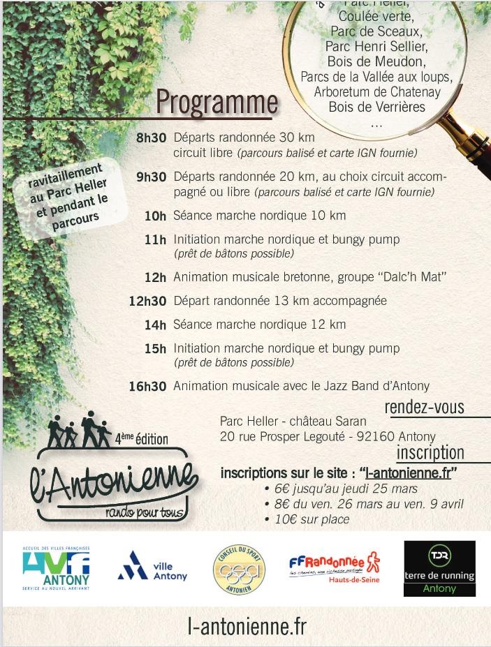 L'Antonienne (92) - Dim 10 Oct 2021 - 30 Km -Marche Nordique New210