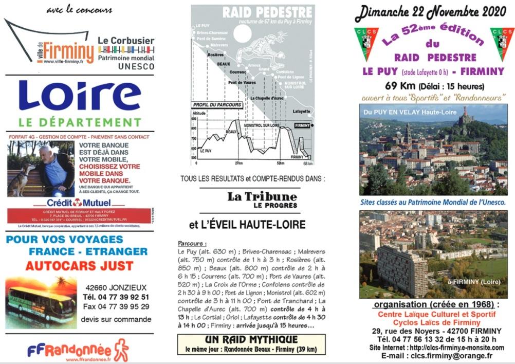 52ème Raid Le Puy-en-Velay-Firminy - Dim 22/11/2020 ->ANNULÉ Nouvel15