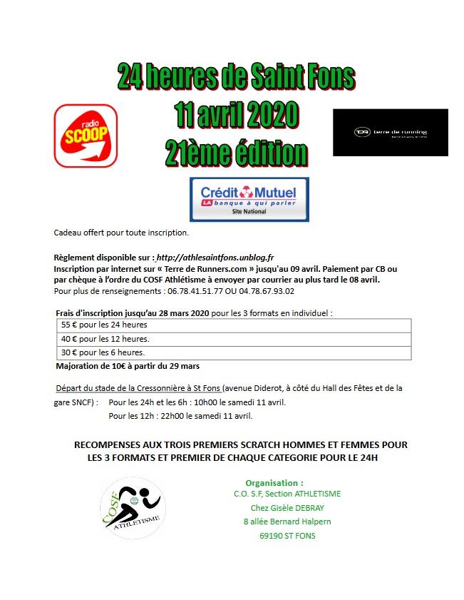 Les 24 Heures de Saint Fons (69) -11-12 Avril 2020 ->ANNULEE Page13