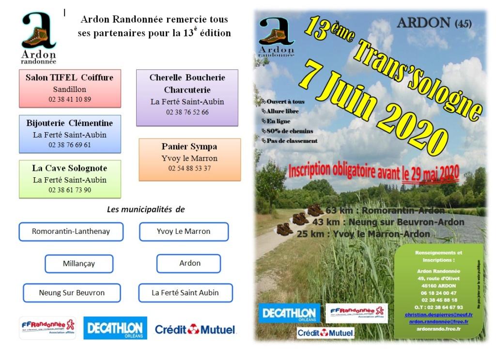 Trans' Sologne - Ardon - Dim 7 Juin 2020 - 63 Km - ANNULÉ Rando112
