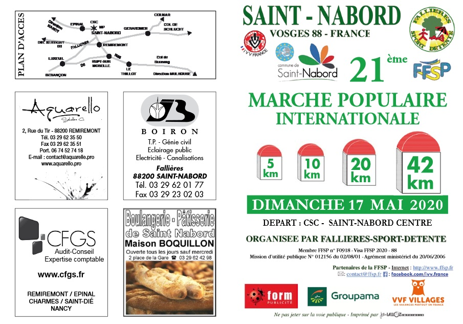 21ème Marche - St Nabord (88) - Mai 2020 - 42 Km - ANNULÉE Rando114