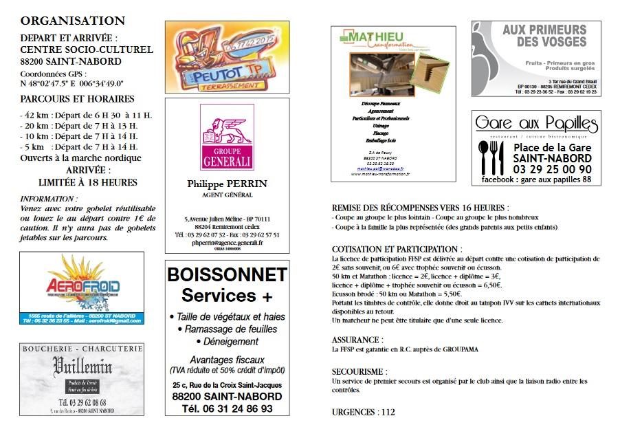 21ème Marche - St Nabord (88) - Mai 2020 - 42 Km - ANNULÉE Rando212