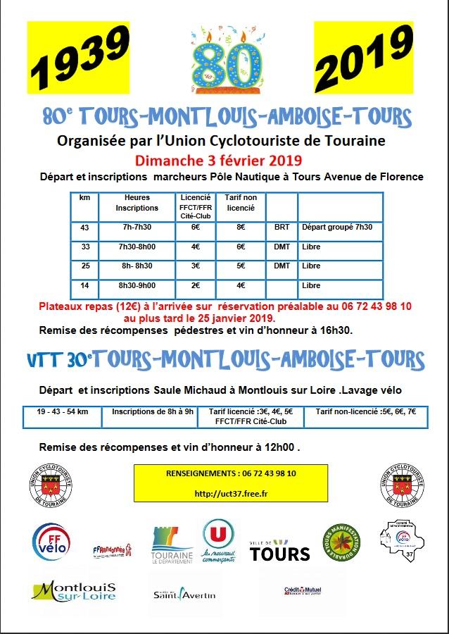 80ème TMAT! - Tours-Montlouis-Amboise-Tours - Dim 3 Fev 2019 Tmat10