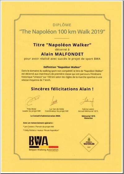 Napoléon 100 km Walk - Vue de l'intérieur Wdiplo10