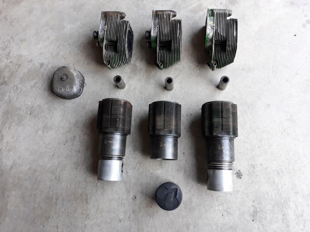 Moteur F3L812 cylindres et pistons + culasses R41 20181013