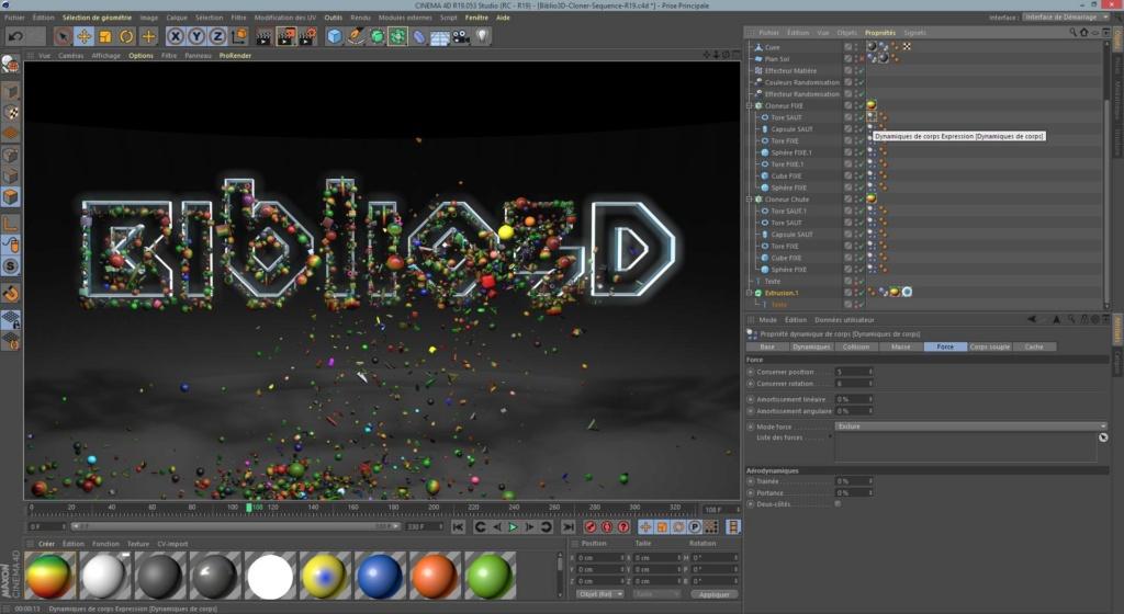 [ CINEMA4D ] Animation BIBLIO3D (Cloneur/Spline) Biblio12