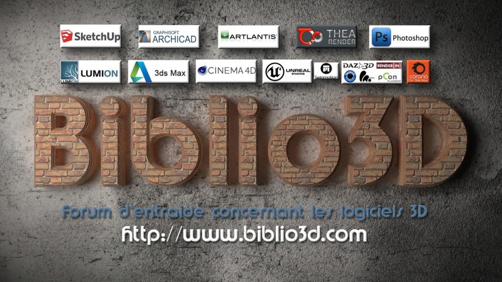 "[ CINEMA4D ] FUN ! Construction d'un visuel 4K ""Biblio3D"" via 2000 objets Biblio15"