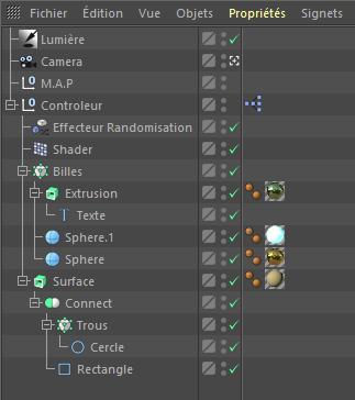 """[ CINEMA4D ] XPresso (scène """"Loop"""" et contrôleur d'objets) Billes11"""