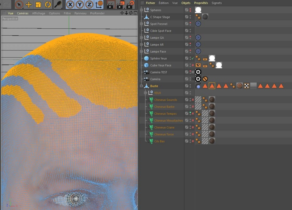 [ CINEMA4D ] (WIP) C4D r20 + VRAY 3.7 : Portrait, Moustaches, Cheveux... Captur14