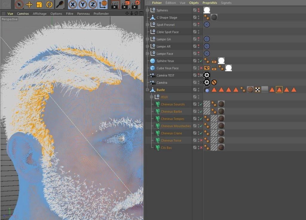 [ CINEMA4D ] (WIP) C4D r20 + VRAY 3.7 : Portrait, Moustaches, Cheveux... Captur20