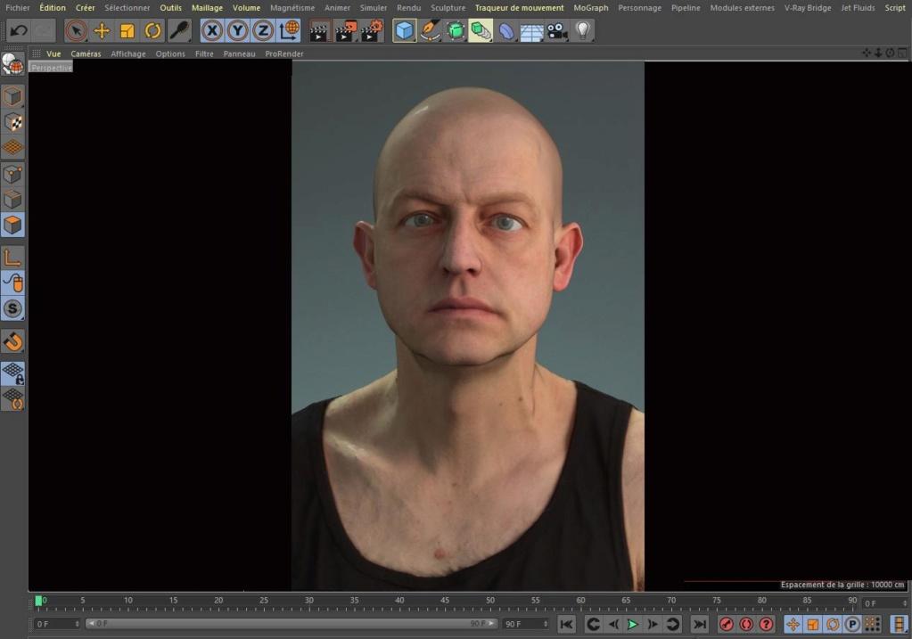 [ CINEMA4D ] (WIP) C4D r20 + VRAY 3.7 : Portrait, Moustaches, Cheveux... Captur22