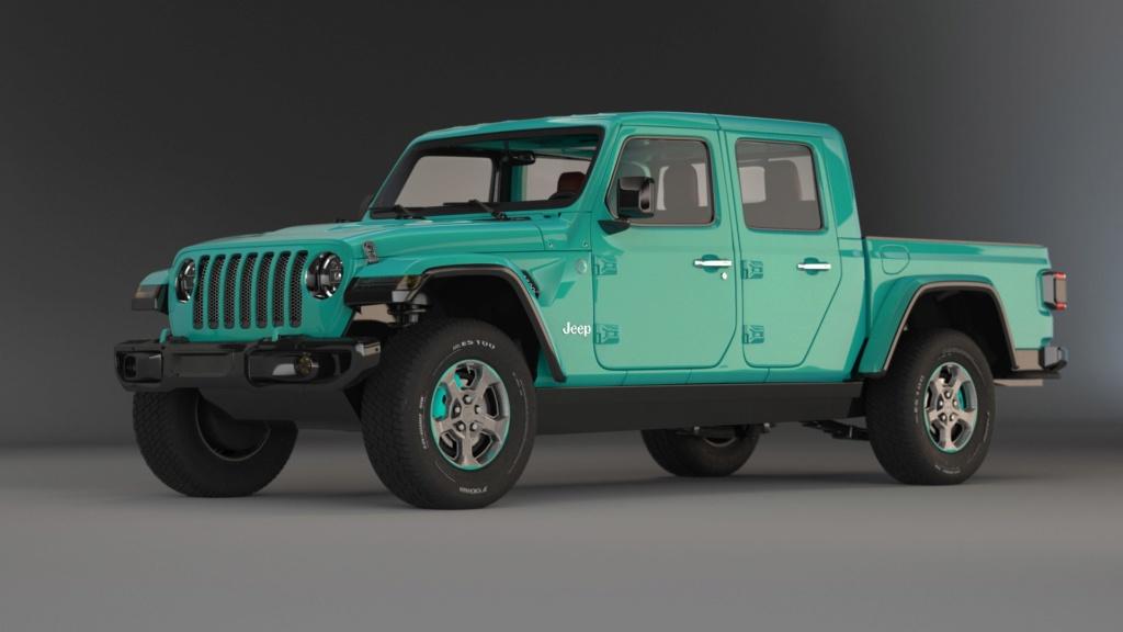 [ CINEMA4D ] (WIP) JEEP Gladiator 2020/ Probl Vitres/VRAY Jeep_g10