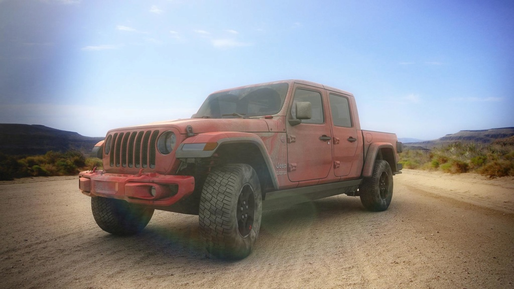 [ CINEMA4D ] (WIP) JEEP Gladiator 2020/ Probl Vitres/VRAY Jeep_g13
