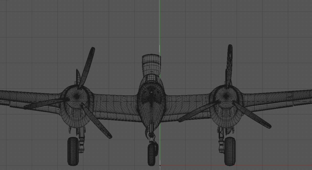 [ CINEMA4D ] (WIP) Avion Lockheed P38 Lightning P38-fa10