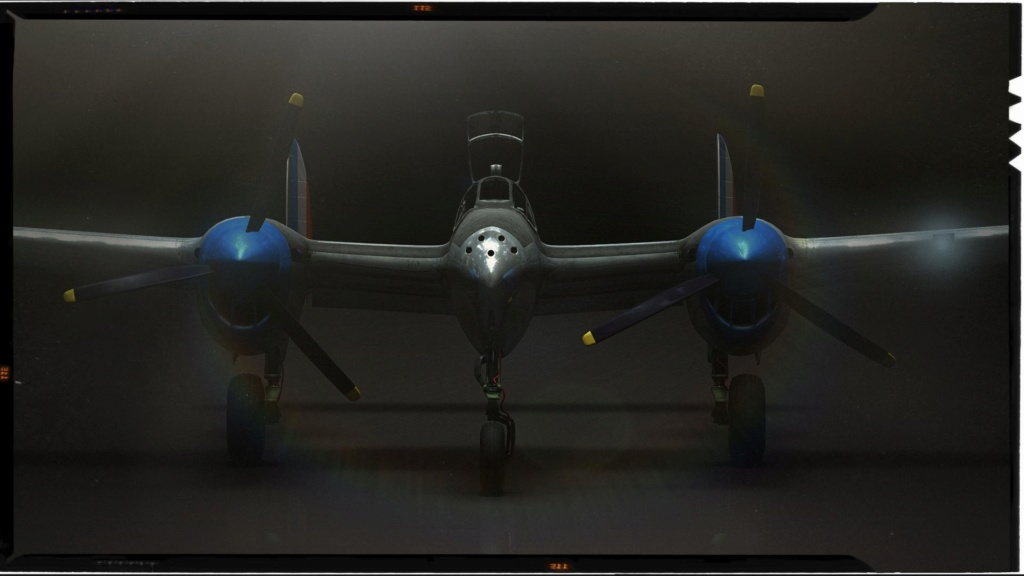 [ CINEMA4D ] (WIP) Avion Lockheed P38 Lightning P38-re10