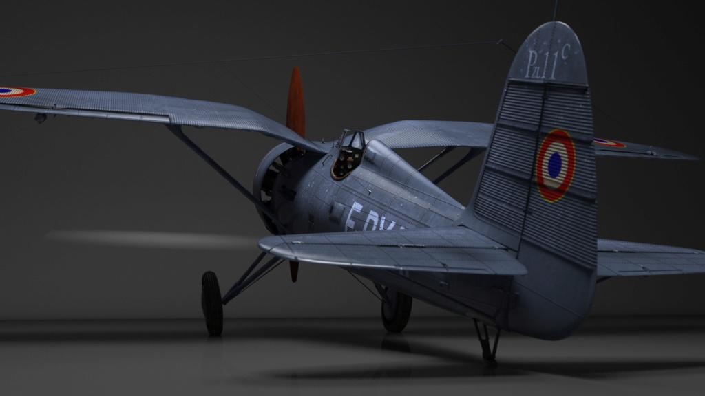 [ CINEMA4D ] (WIP) Avion PZL P11c (Pologne 1931) Pzl-p110