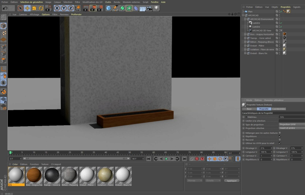 [ CINEMA4D ] Archicad vers CINEMA4D Test-110