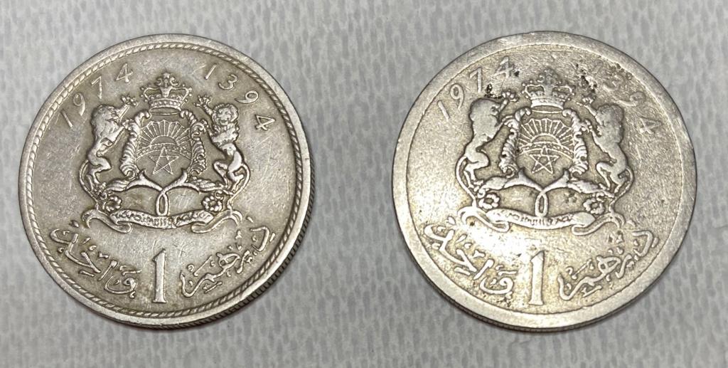 Moneda 1 dírham año 1974 (1394) borde sin cordón, ¿error acuñación o ceca diferente? Img_3811