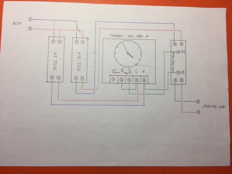 Branchement horloge sur chauffe-eau Schzom10