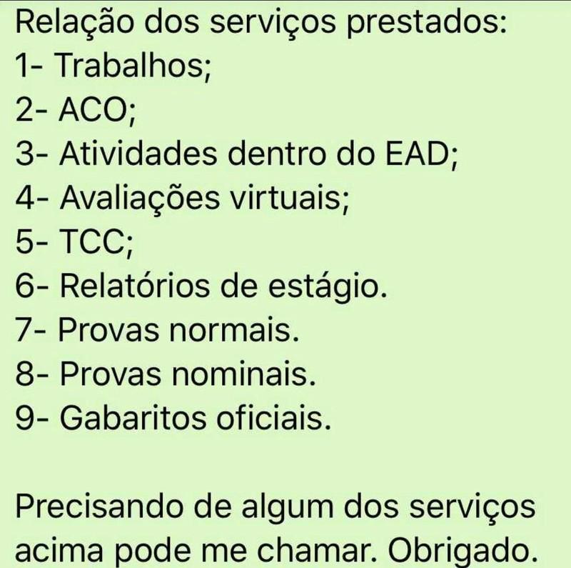 #Provas #Gabaritos #ACO #Portfólio #TCC #UNOPAR 20181210