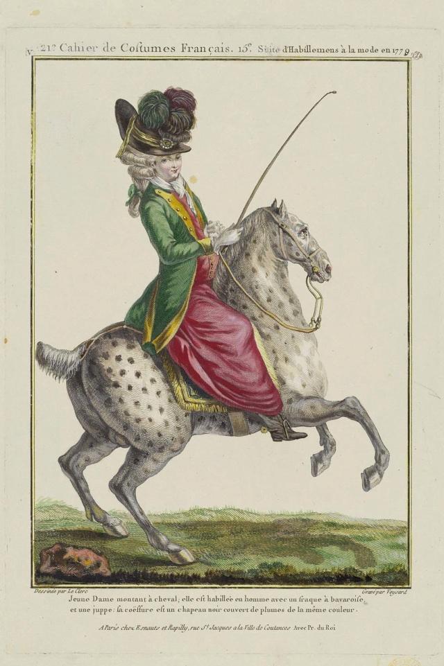 La reine Marie-Antoinette à cheval  177912
