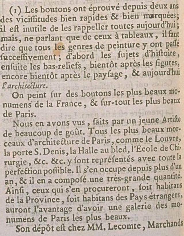 Les boutons, accessoires de mode au XVIIIe siècle - Page 2 Bouton10