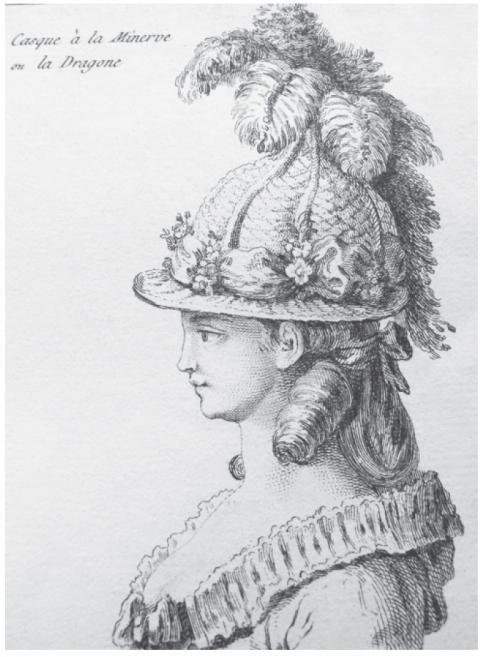 Groupe en biscuit de porcelaine de Niderviller, par Lemire : Marie-Antoinette représentée sous les traits de Minerve ? Casque10