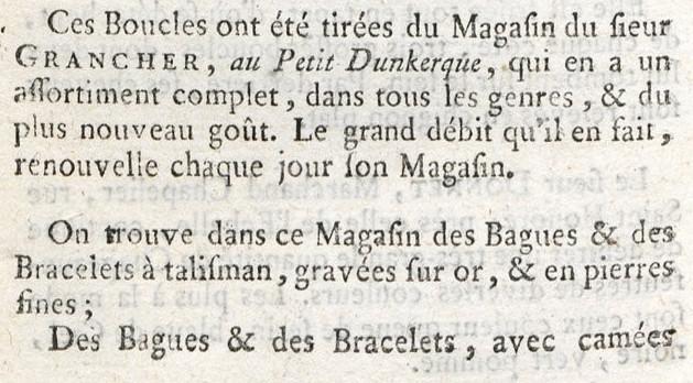 Le Petit Dunkerque, chez Granchez, bijoutier de Marie-Antoinette Magasi14