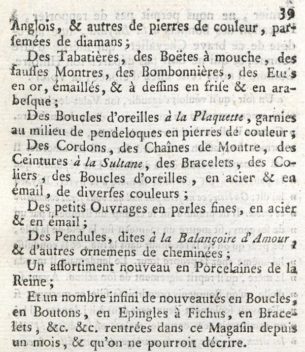 Le Petit Dunkerque, chez Granchez, bijoutier de Marie-Antoinette Magasi15