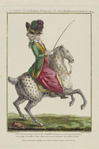La reine Marie-Antoinette à cheval