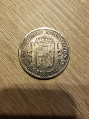 Moneda 1875 falsa 20181213