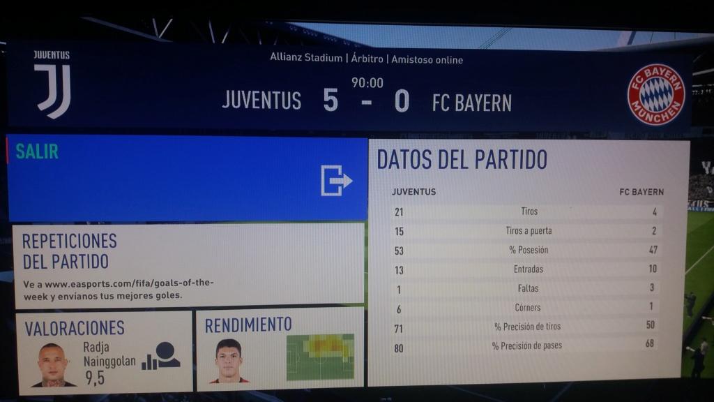 Amistoso Juventus 5-0 Bayern Munich, 08/01/2019 20190113