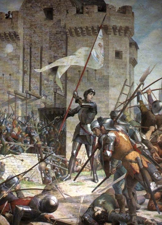 Peindre l'Histoire 4 : 8 mai 1429 Jeanne d'Arc délivre Orléans Jeanne10