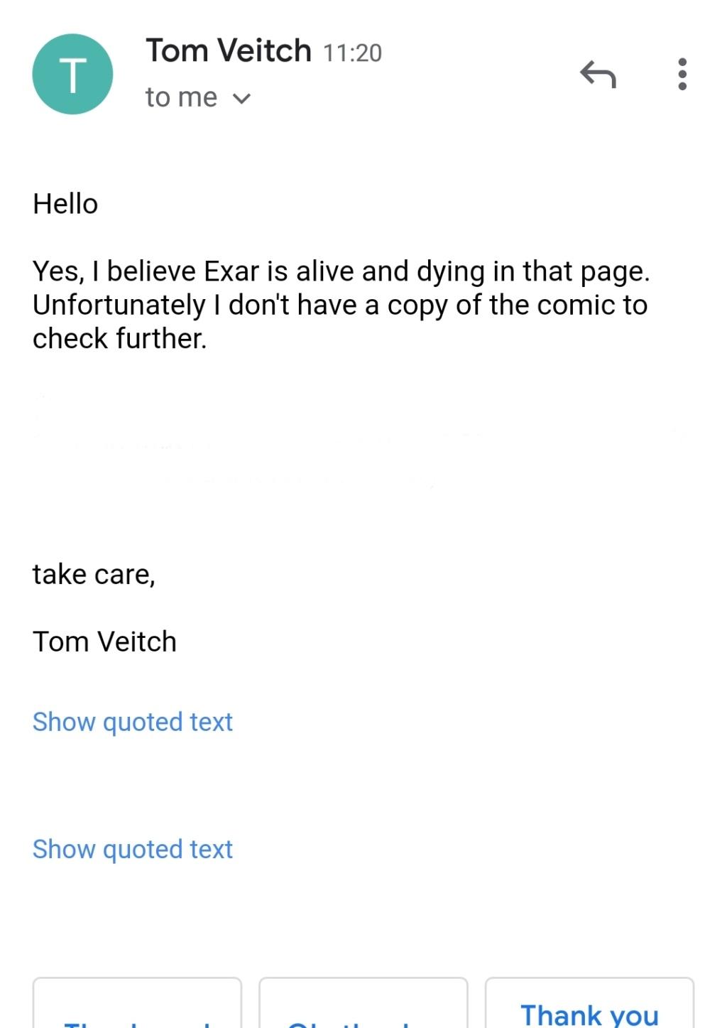 Exar Kun Super Respect Thread (2021) 20210712