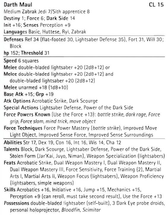 SS - Ulic Qel-Droma (LadyKulvax) vs. Darth Maul (Lorenzo) Darthm11