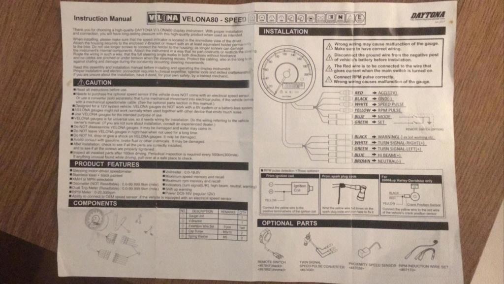 wiring speedo D2867112