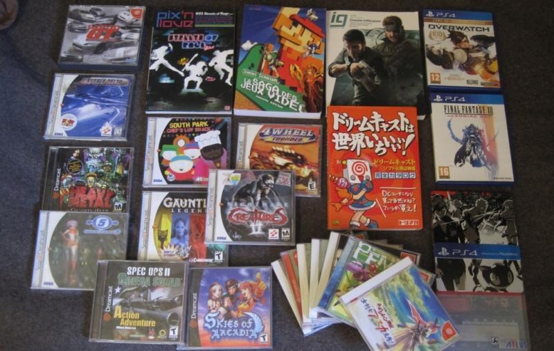 [VDS] Lot divers : 4 Livres JV - 17 Jeux Dreamcast Us et Jap - 3 Jeux PS4. le tout 150 euros Img_2850
